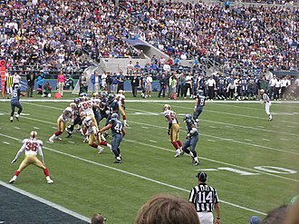 2004 NFL season - The NFC West champions Seattle on offense against San Francisco, week 3
