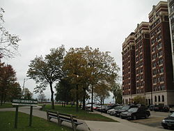 20061022 Hampton House and South end of Harold Washington Park.JPG