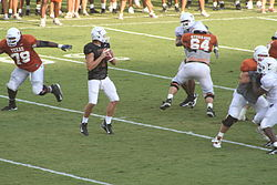 2006 UT football fall scrimmage Jevan Snead.JPG