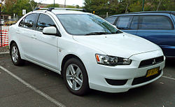 2007–2009 Mitsubishi Lancer (CJ) ES sedan (Australia)