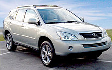 The Lexus RX 400h, a hybrid version of its best-selling vehicle.