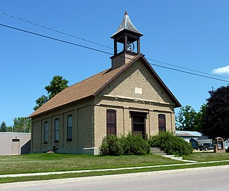 Garden City Township, Blue Earth County, Minnesota - The First Baptist Church is on the National Register of Historic Places.