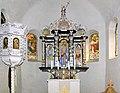 20100406080DR Kiebitz (Ostrau) Dorfkirche Altar Kanzel Fenster.jpg
