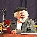 2011-03-28 Ernesto Cardenal on stage at Akkonplatz church, Vienna.jpg