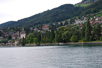 Oberhofen am Thunersee - Oberhofen from Lake Thun