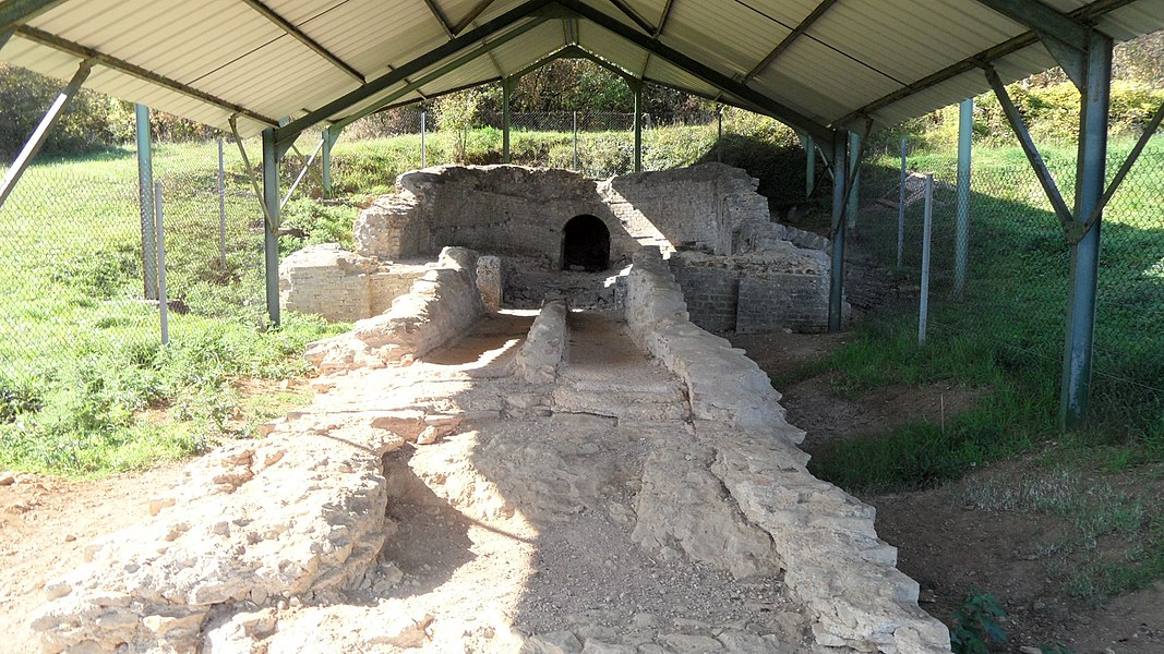 Remains of a basin in the Roman aqueduct near Ars-sur-Moselle in France, built in the 2nd century