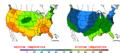 2016-04-21 Color Max-min Temperature Map NOAA.png