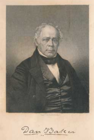 Daniel Baker (Presbyterian minister) - Image: 2017 08 10 1021 Prebyterian minister Dan Baker, born 1791