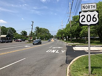 Montgomery Township, New Jersey - US 206 and CR 533 in Montgomery Township