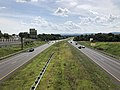 2019-08-17 15 04 50 View south along U.S. Route 15 and west along U.S. Route 340 (Jefferson National Pike) from the overpass for Jefferson Technology Parkway in Ballenger Creek, Frederick County, Maryland.jpg
