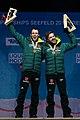 20190224 Men's nordic combined team sprint HS130 Medal Ceremony Frenzel Riessle 850 3328.jpg