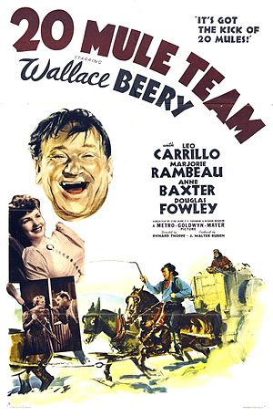 20 Mule Team - theatrical poster