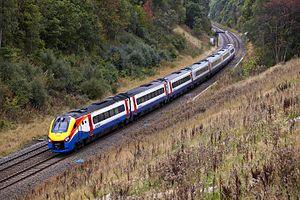 Midland Main Line - Diesel Class 222 Meridian trains