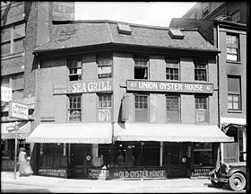 Photographie de l'Union Oyster House en 1930