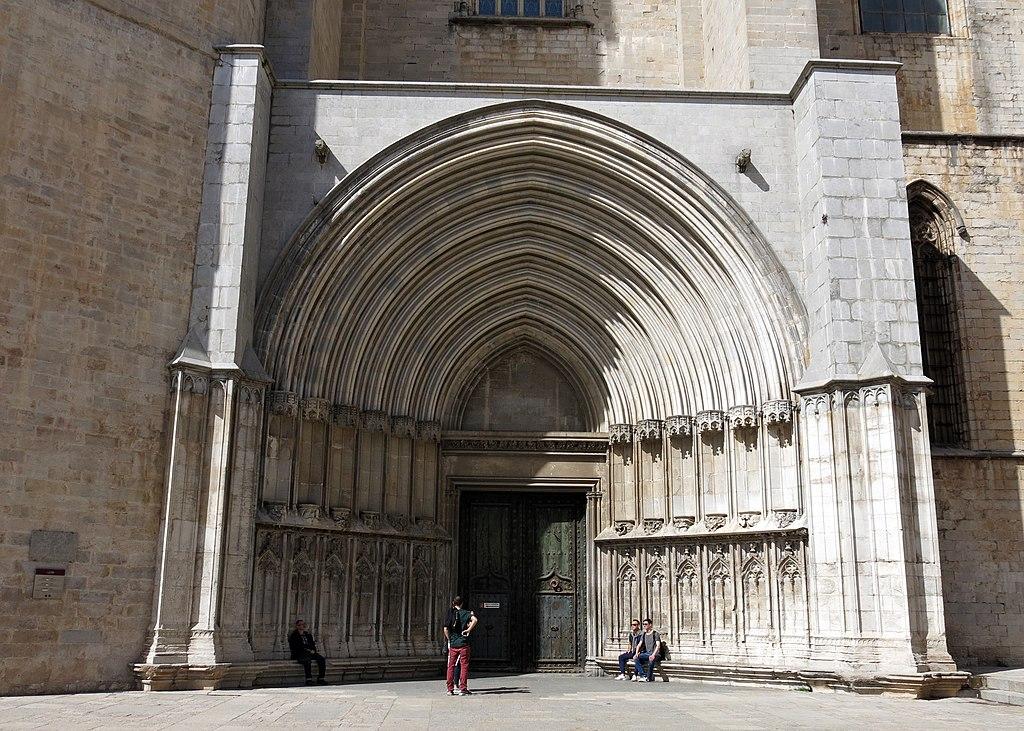 fitxer 278 catedral de girona portal sud o porta dels ap stols jpg viquip dia l. Black Bedroom Furniture Sets. Home Design Ideas