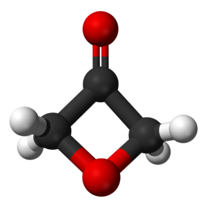 3-Oxetanone - Image: 3 Oxetanone 3D balls