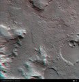 3D anaglyph view of Libya Montes valley region ESA200833.tiff