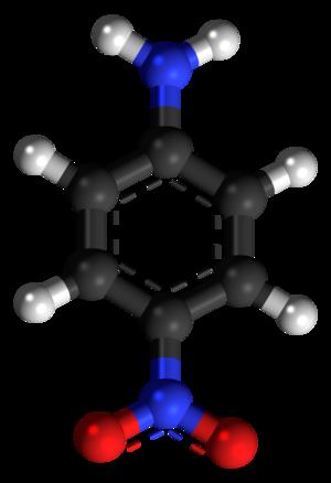 4-Nitroaniline - Image: 4 Nitroaniline 3D balls