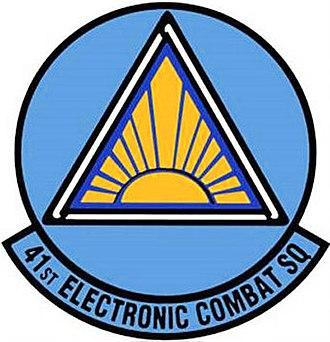 55th Electronic Combat Group - 41st Electronic Combat Squadron emblem