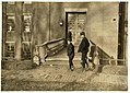 5-30 A.M. Boys going to work Hill Mfg. Co., Lewiston, Me. I saw them at work inside. LOC cph.3b37908.jpg