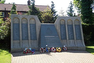 RAF Coningsby - 617 Squadron memorial at Woodhall Spa nearby, to the north