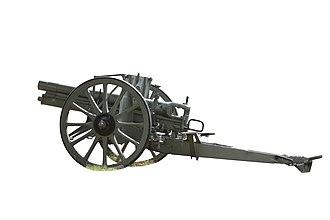 7.7 cm FK 96 n.A. - A captured FK 96 n.A. on display at the War memorial of Pébrac, Loire