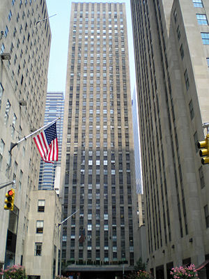 Rockefeller Center - 75 Rockefeller Plaza, built in 1947