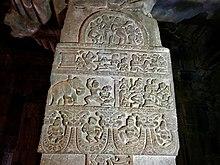 8th century Panchatantra reliefs at Mallikarjuna temple, Pattadakal Hindu monuments Karnataka.jpg