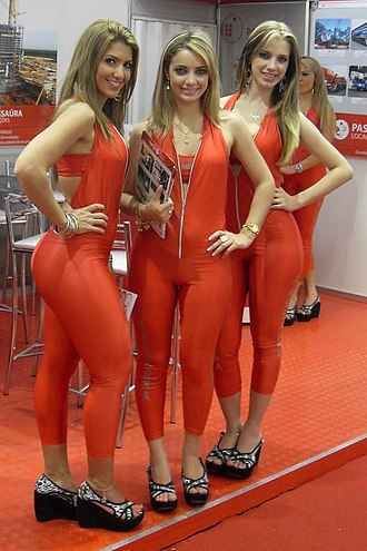 Catsuit - Promotional models in sleeveless catsuits