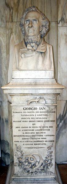 File:9122 - Milano - Museo storia naturale - Monumento a Giorgio Ian (1867) - Foto Giovanni Dall'Orto 22-Apr-2007.jpg
