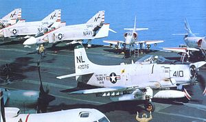 VFA-25 - VA-25 Skyraider armed for a mission over Vietnam in 1966/67