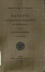 Sonetti burleschi e realistici dei primi due secoli