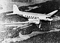AB Aerotransport DC-3 Höken SE-BAB, in the air, in flight.jpg