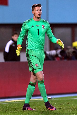 Wayne Hennessey - Hennessey playing for Wales in 2016