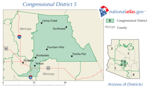 Map Of Arizona 5th Congressional District.Arizona S 5th Congressional District Wikipedia