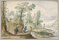 A Wooded River Landscape with a Church and Figures MET DP833604.jpg