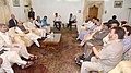 A delegation of J&K Peoples Democratic Party led by General Secretary Mohd. Sartaj Madni meeting the Union Home Minister, Shri Rajnath Singh, in Srinagar on August 24, 2016.jpg