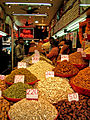 A dry fruit shop in the Spice Market of Old Delhi.jpg