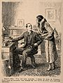 A fashionable doctor's wife bids him goodbye for the weekend Wellcome V0011549.jpg