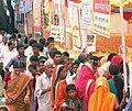 A huge queue for registering Aadhar Card facility, at Mahila Melava, during the Public Information Campaign on Bharat Nirman, at Akkalkuwa, District Nandurbar, Maharashtra on October 11, 2013.jpg