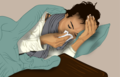 A lady suffering from the Common Cold.png