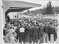 A large crowd standing outside the Maungaturoto Co-op. Dairy Company premises (AM 74618-1).jpg