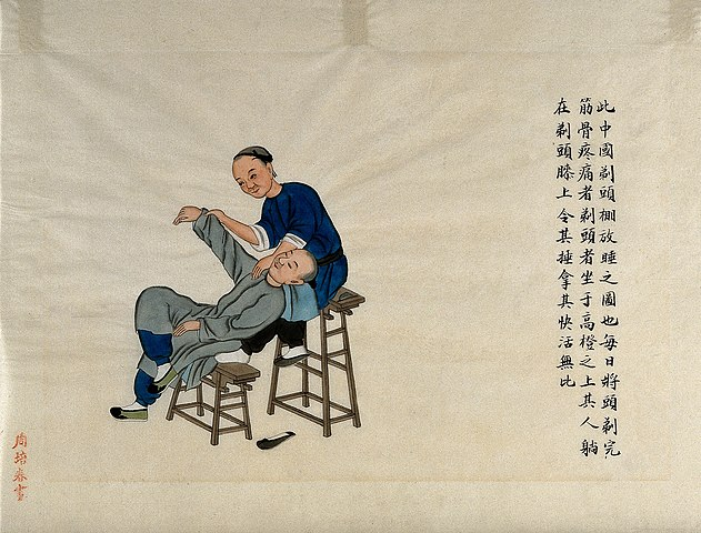 631px-A_patient_receiving_manipulative_treatment_for_a_pain_Wellcome_V0018629.jpg (631×480)