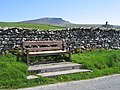 A seat and a view towards Pen-y-ghent - geograph.org.uk - 709578.jpg