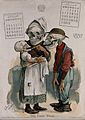 A skeletal couple gaze at their baby's first tooth. Colour l Wellcome V0042242EL.jpg
