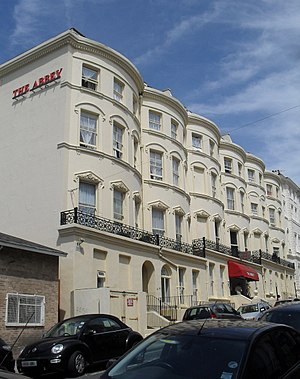 Grade II listed buildings in Brighton and Hove: A–B - Image: Abbey Hotel, Norfolk Terrace, Brighton (Io E Code 480933)