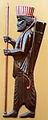 Achaemenid Spear Soldier statue on a residental apartment wall - Nishapur 1.JPG