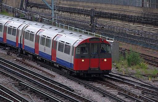 Acton Town tube station MMB 13 1973 Stock