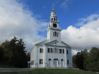 National Register of Historic Places listings in Sullivan County, New Hampshire - Image: Acworth Congregational Church, Acworth NH
