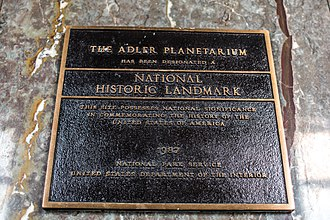 Adler Planetarium - Adler planetarium landmark marker